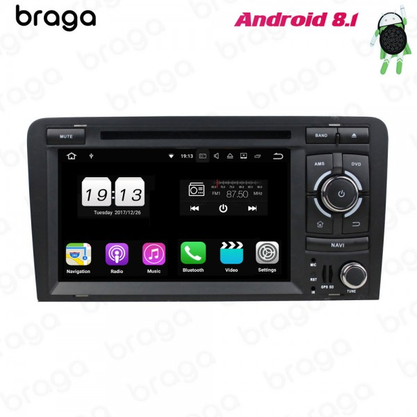 Audi A3 8P S3 8P RS3 8P 2003 - 2013 7 Inch DVD Android Car Sound System