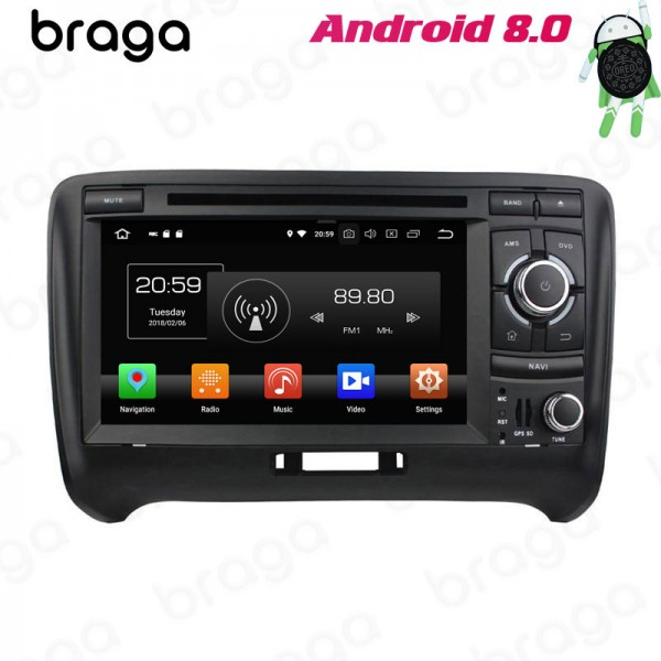 Audi TT MK2 8J 2006 - 2012 7 Inch DVD Android Car Sound System