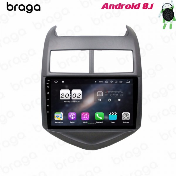 Chevrolet Aveo 2011 - 2016 8 Inch Android Satnav Radio Car Audio Sound System