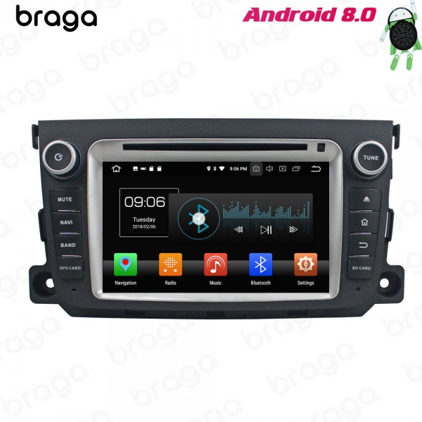 Mercedes Benz Smart 2011 - 2013 7 Inch Android DVD Car Audio System