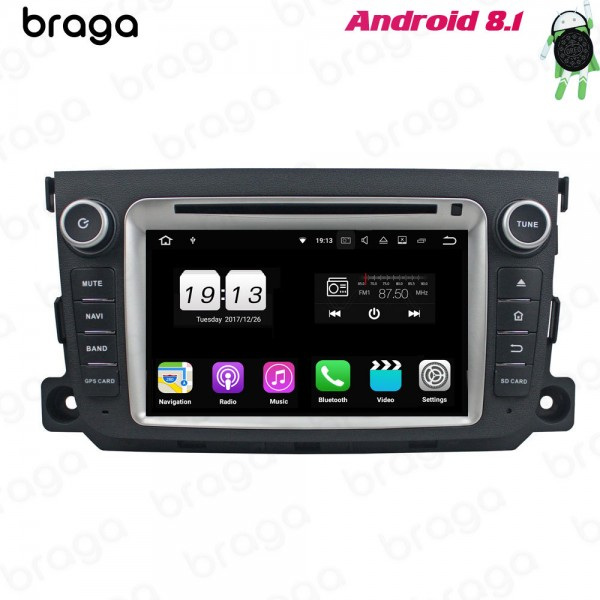Mercedes Benz Smart 2011 - 2013 7 Inch Android DVD...
