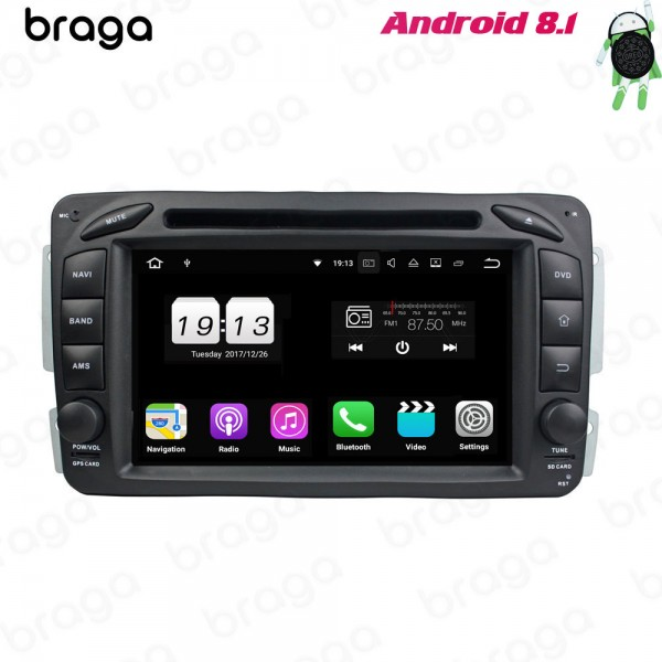 Mercedes Benz A/B/C/G/V-Class W203 7 Inch DVD Android Car Sound System