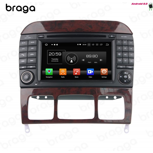Mercedes Benz S-Class W220 1998 - 2005 7 Inch DVD Android Car Sound System