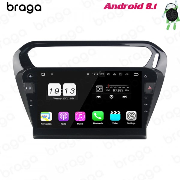 Peugeot 301 Black  2013 - 2016 10.1 Inch Android S...