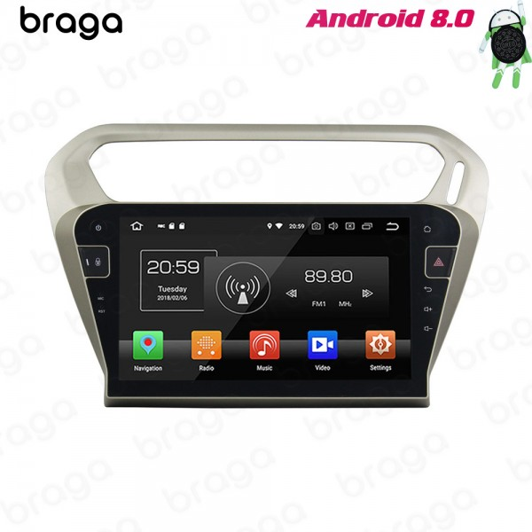 Peugeot 301 Silver 2013 - 2016 10.1 Inch Android S...