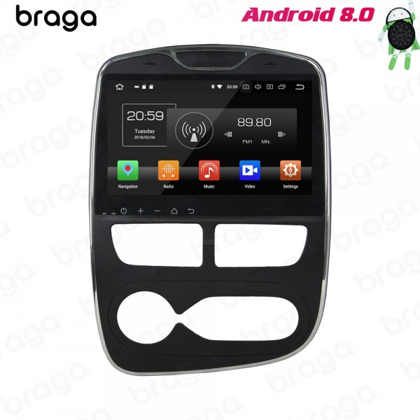 Renault Clio AT 2012 - 2016 10.1 Inch Android Satn...