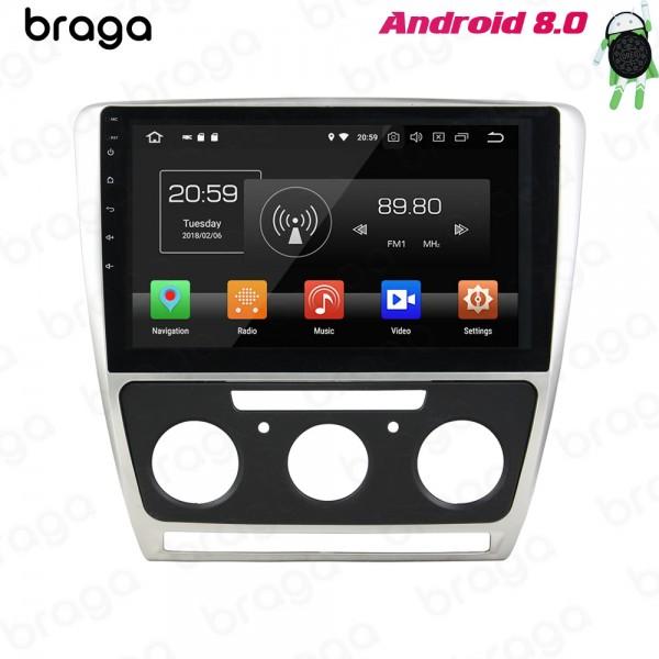 Skoda Octavia 2007 - 2015 10.1 Inch Manual AC Android Satnav Radio Car Audio Sound System