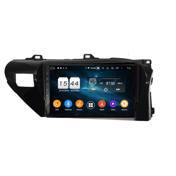 TOYOTA HILUX 2019 - 2020 10 INCH ANDROID SATNAV RADIO CAR AUDIO SOUND SYSTEM