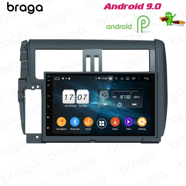Toyota Prado 150 Series 2010 - 2014 9 Inch Android Satnav Radio Car Audio Sound System