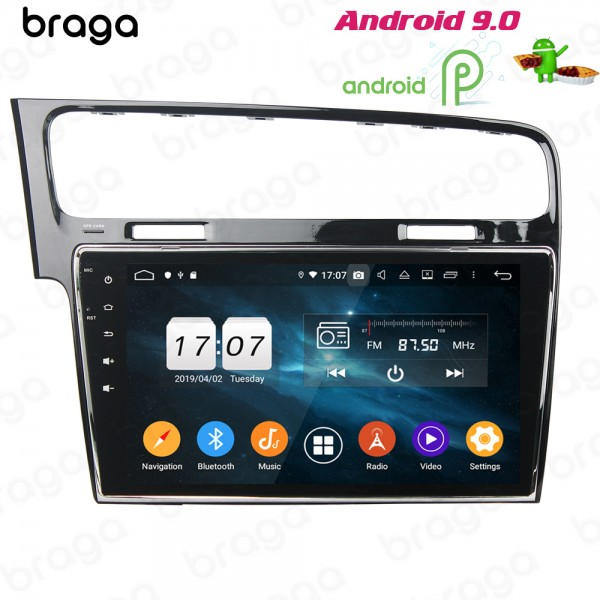 Volkswagen GOLF 7 MK7 2013 - 2017 10.1 Inch LHD Android Satnav Radio Car Audio Sound System