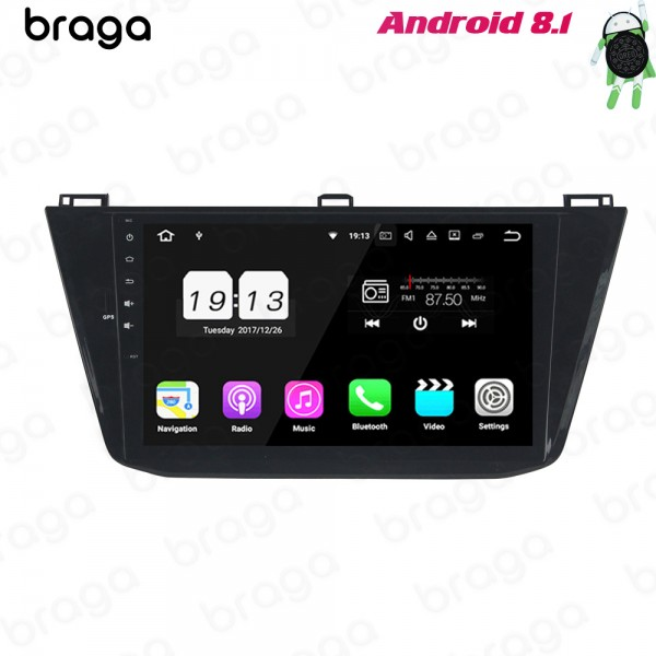 Volkswagen Tiguan 2016 - 2019 10. 1 Inch Android Satnav Radio Car Audio Sound System